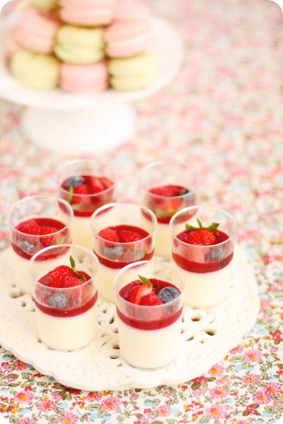 Vanilla Panna Cotta Verrines with Raspberry Coulis