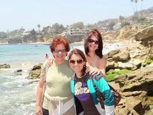 Brasileira com a visita da família nos Estados Unidos (Foto: Arquivo Pessoal/ Mayra Ramos)