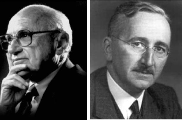 Resultado de imagen para Milton Friedman y Friedrich Hayek