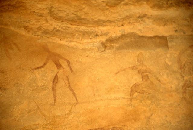 Pitture rupestri: figure umane