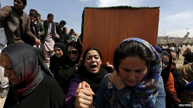 Women at Farkhunda's funeral