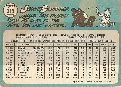 #313 Jimmie Schaffer (back)
