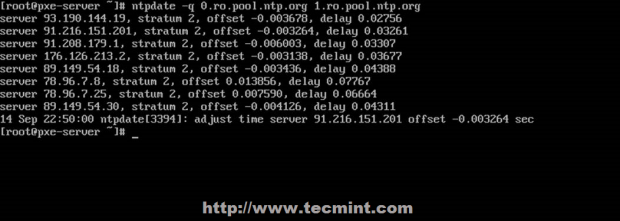 Synchronize NTP Time