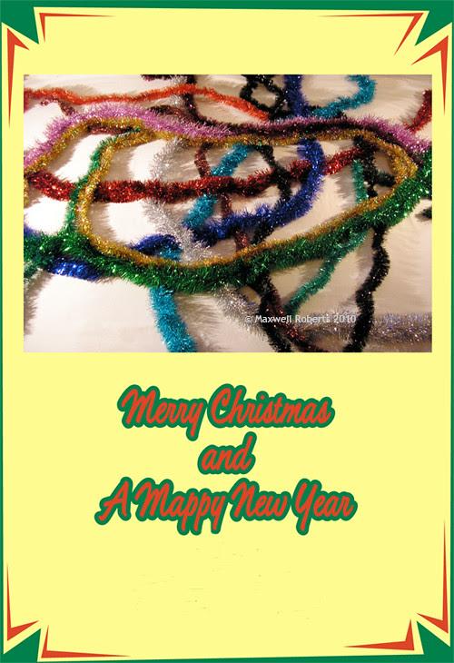 Christmas Tube Map by Max Roberts