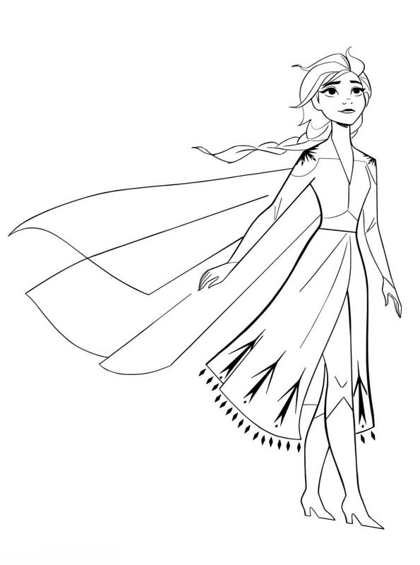 Coloring Pages Of Frozen 2 Elsa - colouring mermaid