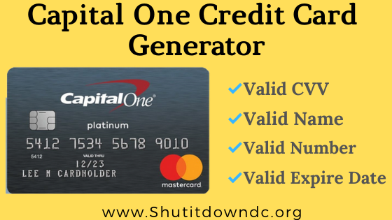 Capital One Credit Card Numbers Generator - Valid CVV Details