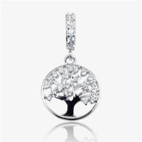 Sterling Silver DiamonFlash ® Cubic Zirconia Life's Tree