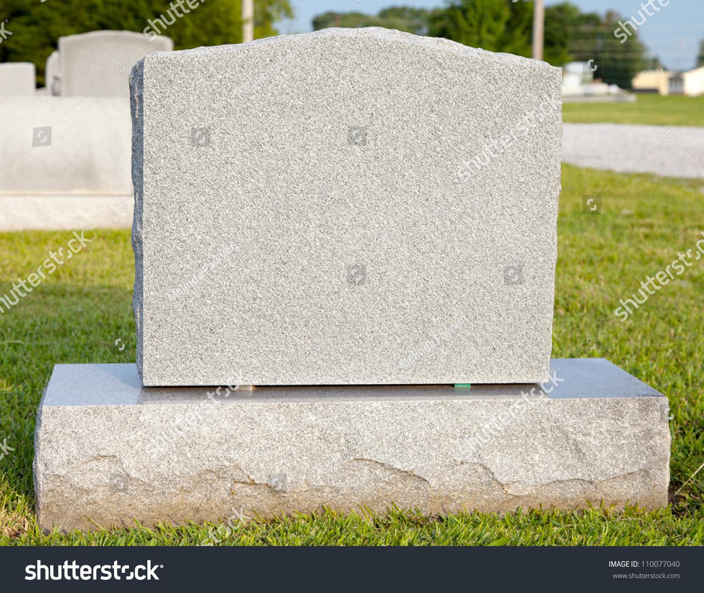 Blank Tombstone Stock Photo 110077040 - Shutterstock