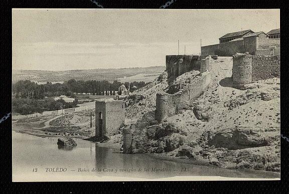 Baño de la Cava (Toledo) a principios del siglo XX. Foto Louis Levy