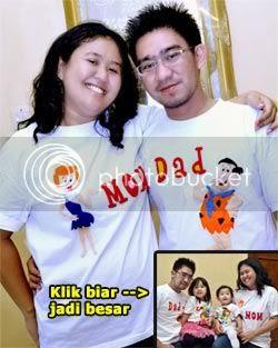 kaos family,kaos lucu,kaos gambar kartun,flinstone,kaos nama