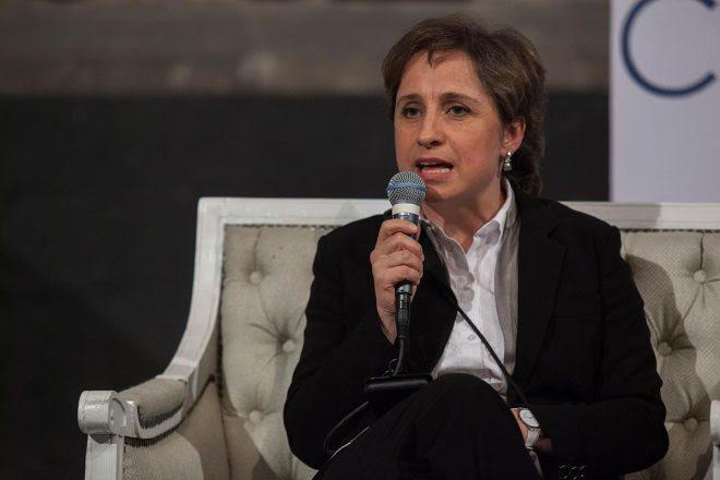 Carmen Aristegui, periodista. Foto: Octavio Gómez
