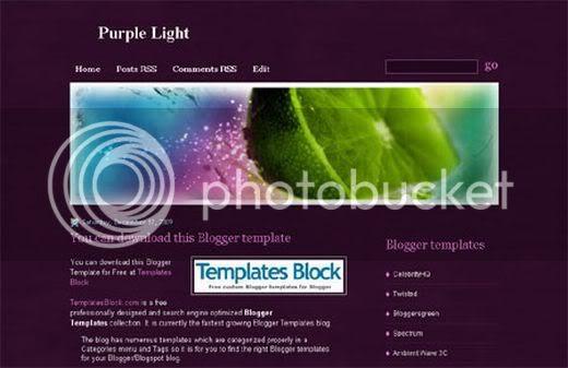 Blogger Lime Purple Web2.0 Template