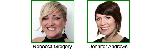 Rebecca Gregory and Jennifer Andrews
