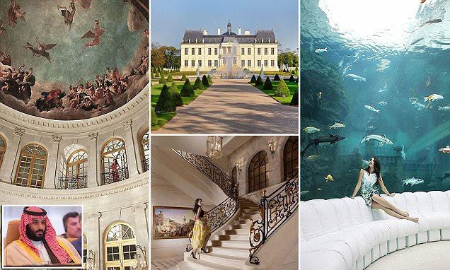Príncipe herdeiro saudita por trás da compra de palácio francês de US $ 300 milhões