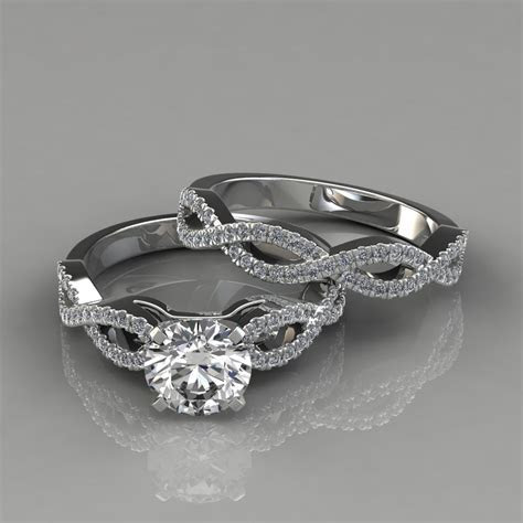Infinity Design Round Cut Bridal Set Rings   Forever
