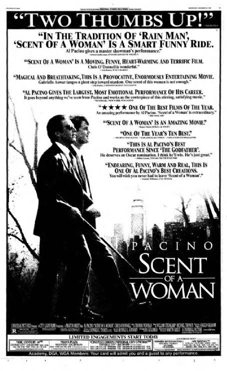 Scent Of A Woman 1992 Cast And Crew Trivia Quotes Photos News