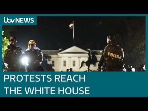 Protesters besiege White House as chaos sweeps Washington | ITV News
