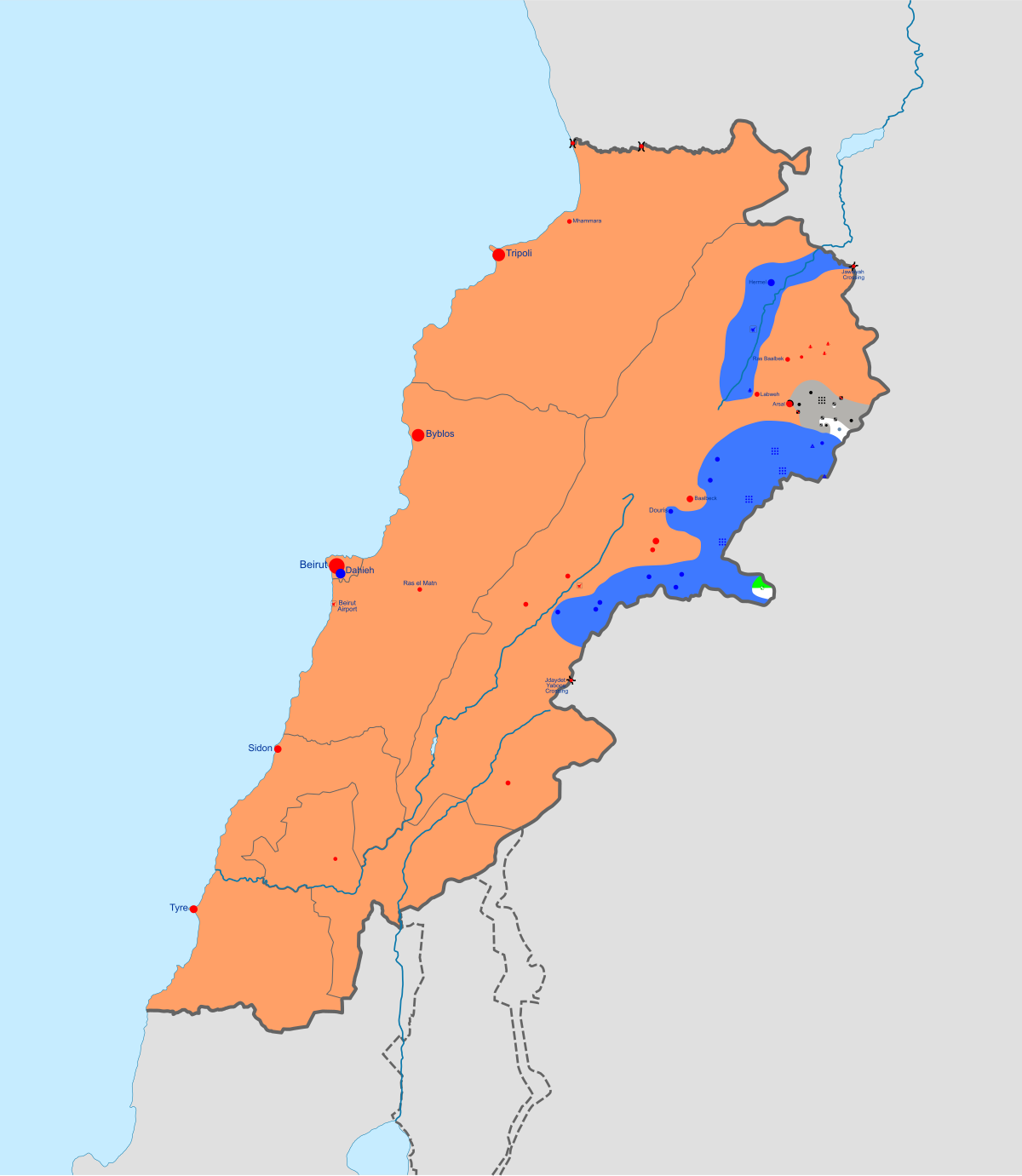 Syrian Civil War Spillover In Lebanon Wikipedia
