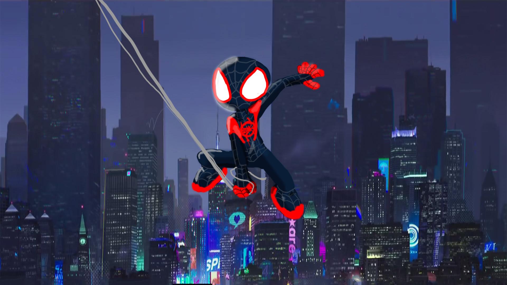 Spiderman Into The Spider Verse Movie Artwork Hd Movies