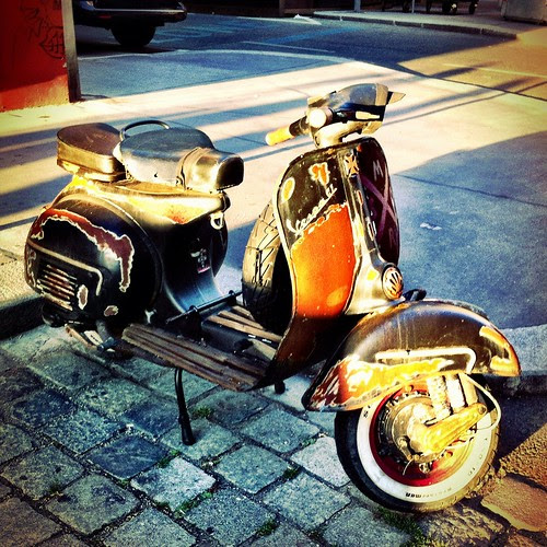 Rusted Vespa while Sunset by famiglia_vienna