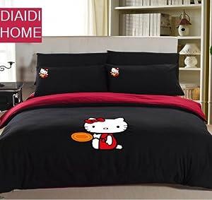 Amazon.com - DIAIDI Home Textile, Cute Hello Kitty Comforter Set ...
