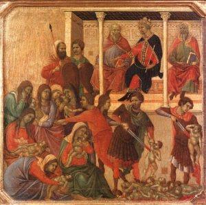 Duccio di Buoninsegna, Η σφαγή των νηπίων, 1308-1311