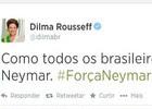 Dilma tuíta apoio a craque: '#ForçaNeymar' (Reprodução / Twitter)