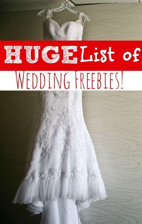 *Huge* List of No Cost Wedding Gifts   Budget wedding