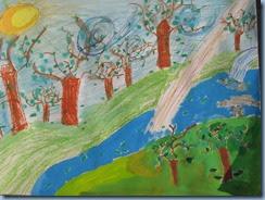 Δάσος. Ζωγραφική με τέμπερες, λαδοπαστέλ, ακουαρέλα (4)