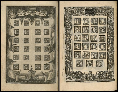 Juan de Yciar calligraphy copybook