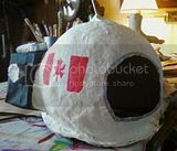 space helmet in papiermache #StudioChezZzorhn June 2013 photo astronaut_SCZ_june19_2013_zps3f1379fb.jpg