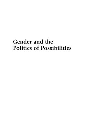 Read Online Gender and the Politics of Possibilities PDF