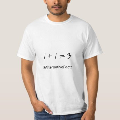 Funny hashtag maths alternative facts T-Shirt