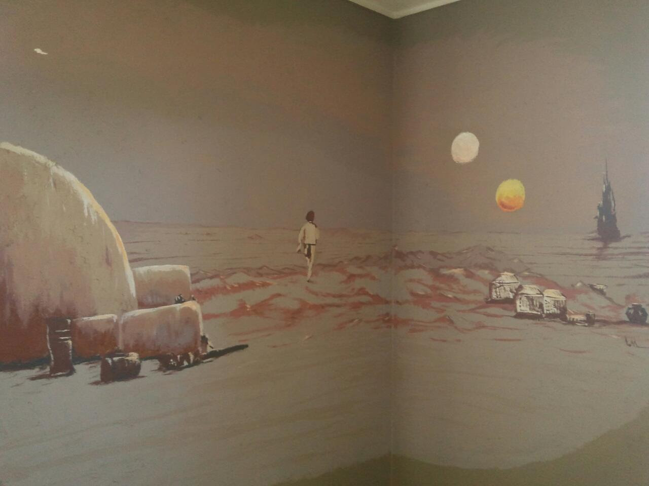 Chris Barnes: A Star Wars Bedroom Mural Fit For A Superfan, As ...