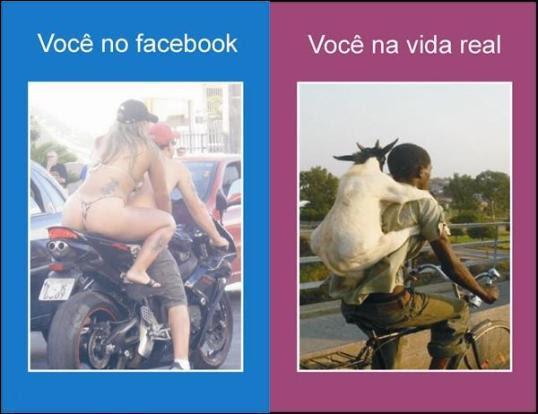 você no facebook e na vida real