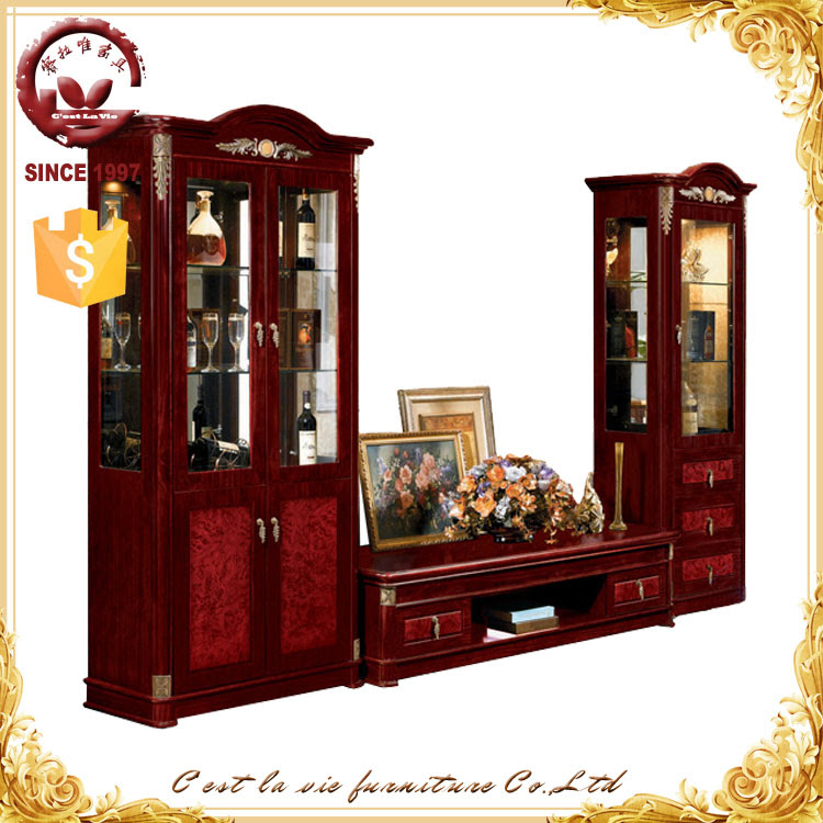Living Room Tv Hall Furniture Antique Design Wooden Tv ...