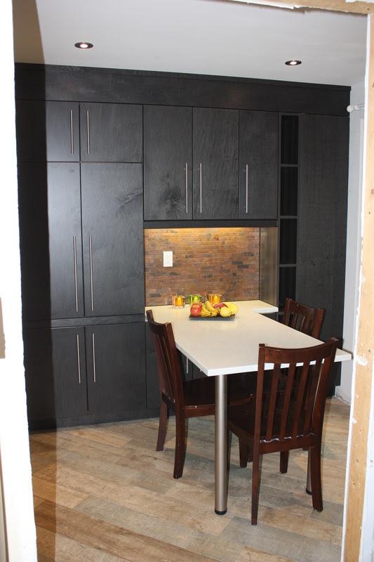Euro style Kitchen in Barrie, Ontario flat pannel doors ...