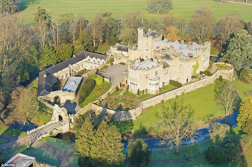 Spectacular: The 14th century Thurland Castle has been converted into a number of luxury apartments. The three bedroom Cromwell Wing is yours for £1.1 million