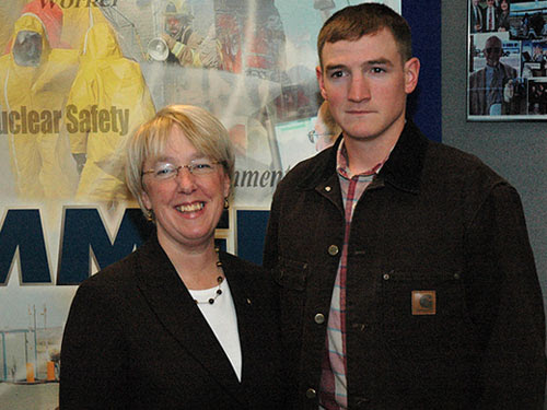 Senator Patty Murray with Iraq War veteran Ty Rose