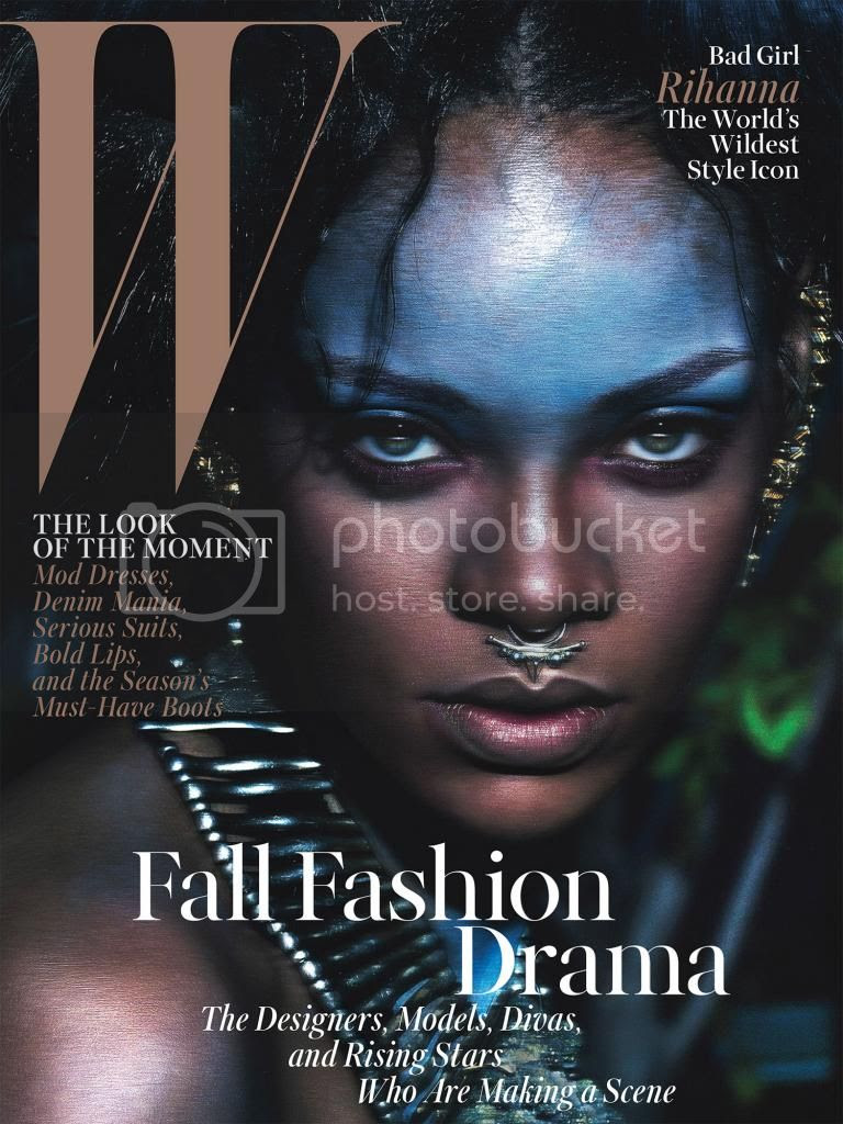 Rihanna Goes Tribal For W Magazine September 2014 Issue photo rihanna-tribal-w-magazine-02_zps75e044a8.jpg