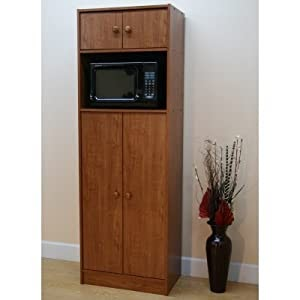 Kitchen Cabinets Islands: Microwave Pantry Cabinet with ...