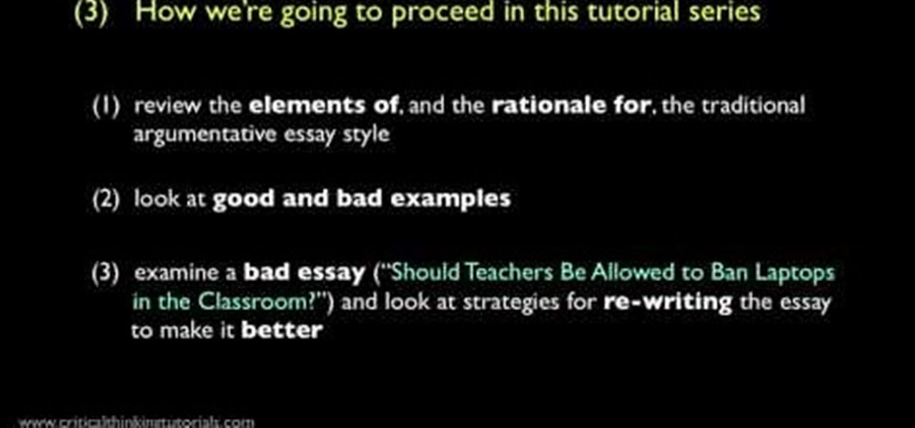 how to write a good argumentative essay for teachers