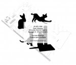 Cat Collection Silhouettes Yard Art Woodworking Pattern - fee plans from WoodworkersWorkshop® Online Store - Haloween,black cats,dilhouettes,kittens,yard art,painting wood crafts,scrollsawing patterns,drawings,plywood,plywoodworking plans,woodworkers projects,workshop blueprints