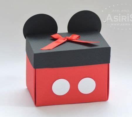 Cutii marturii botez Mickey Mouse   Micky Mouse favor