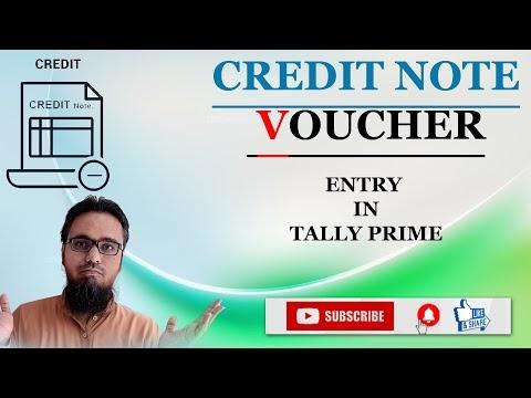 Credit Note Voucher Entry in Tally Prime | टेली प्राइम में क्रेडिट नोट वाउचर एंट्री कैसे करें