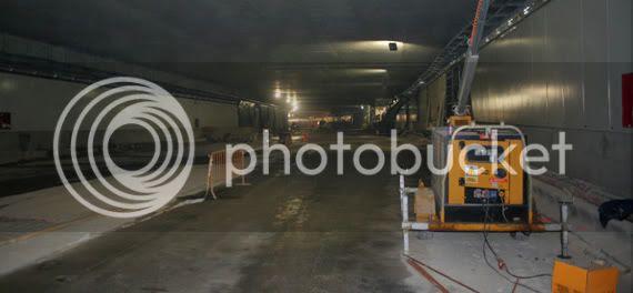 El interior del túnel
