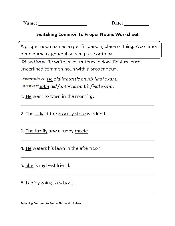Englishlinx Com Nouns Worksheets