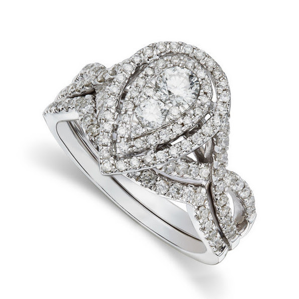 Wedding Rings With Engraved: Wedding Ring Sets Pear Shaped