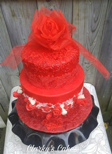 40Th Wedding Anniversary Cake   CakeCentral.com