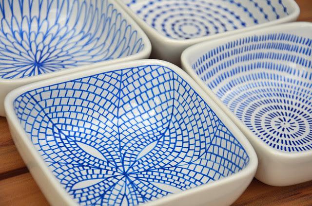 DIY hand-painted ceramic tealight holders